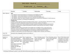 southwest asia s geography weekly lesson plan by mrgiod teaching