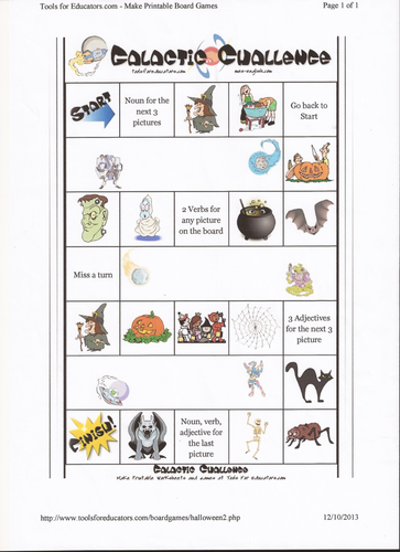 Nouns, Verbs and Adjectives with a Halloween Theme by lucindagrey ...