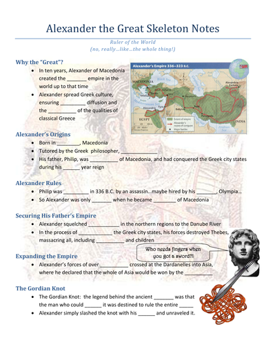 Alexander the Great PowerPoint and Worksheet by evanderheyden10 ...