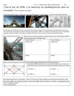 Eiffel Tower Performance Based Assessment