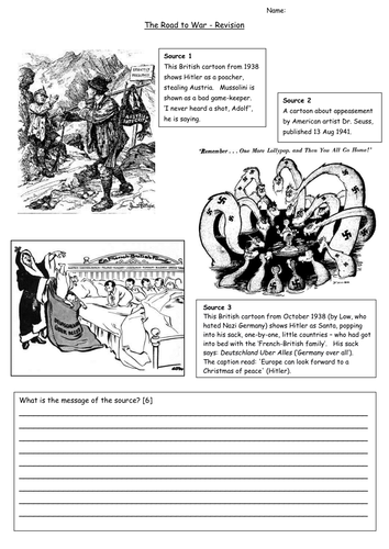 appeasement and road to war source sheets by sarahscd teaching resources tes. Black Bedroom Furniture Sets. Home Design Ideas