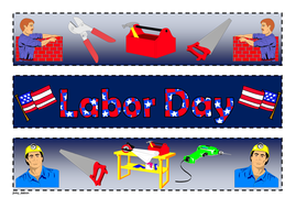 Labor Day Themed Cut Out Border By Jinkydabon Teaching Resources Tes