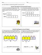 Grade 6 Tape Diagrams for Percent Problems