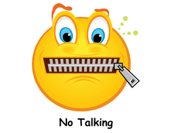 Image result for no talking