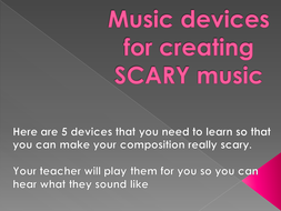 Music devices for creating scary music.pptx