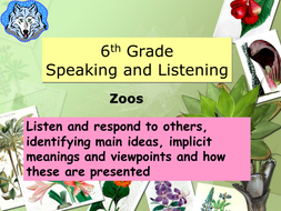 Speaking and Listening: Zoos
