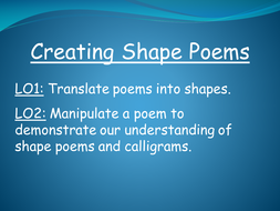 Creating Shape Poems
