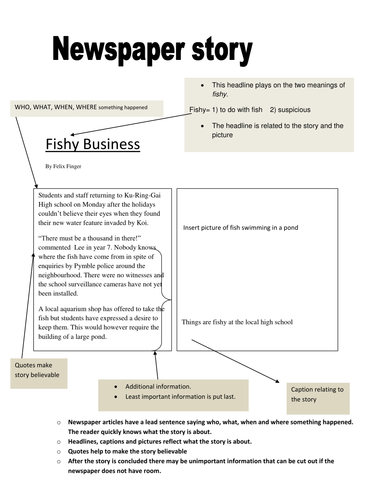 Newspaper Report Template By Claudiac Teaching Resources Tes