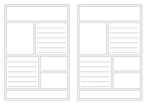 leaflet templates by claire tunnicliffe teaching resources tes