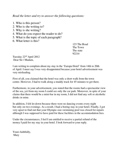 Complaint letters by sjb1987 teaching resources tes spiritdancerdesigns Gallery