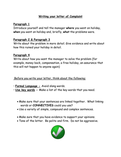 complaint letters by sjb teaching resources tes