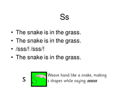 Words for phonics songs