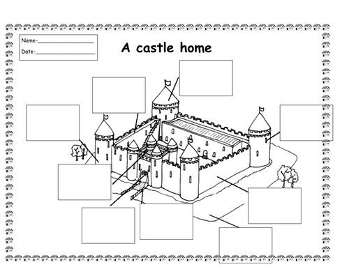 Label A Castle Worksheet Ks1 Beansmith
