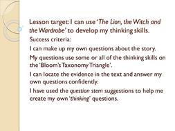 Bloom's Taxonomy PowerPoint
