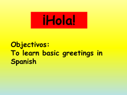 Greetings in spanish by kbrain teaching resources tes greetings in spanish m4hsunfo