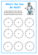 What's the time Mr Wolf? handout