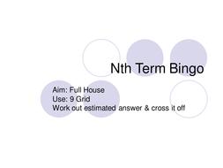 nth term Bingo