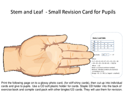 Stem and Leaf review Aid