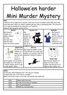 Halloween (harder) mini murder mystery