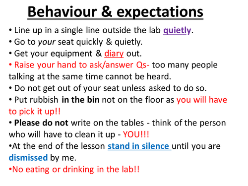 Lab safety lesson with rulesexpectations by hannahradford – Lab Safety Rules Worksheet