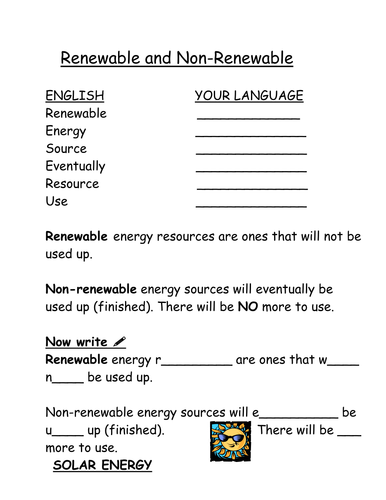 100+ [ Worksheet Renewable And Nonrenewable Resources ...