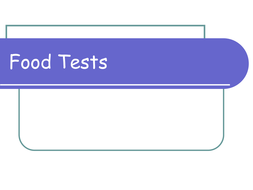 Food Tests PowerPoint