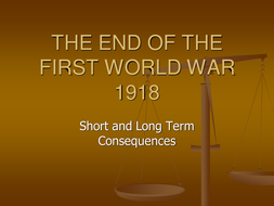 Aftermath of World War I