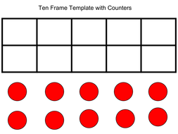 Ten Frame Template By Grich005 Teaching Resources Tes