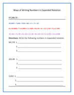 10 ways to Write Numbers in Expanded Form by mathspecialist ...