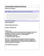Accountable Revising and Editing