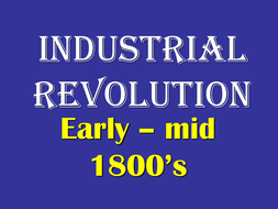 Industrial Revolution PowerPoint and Guided Studen