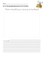 How Would You Rescue a Turkey? Writing Prompt