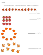 Counting in Arrangements Activity - Fall Theme