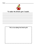 How to Make the Grinch Grin - Writing Activity