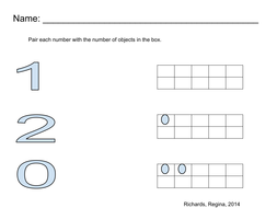 Pair number with ten frame, Number (0,1,2)