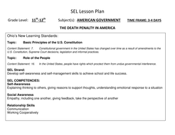 SEL / US Government Integrated Lesson Unit Gr11-12