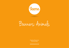 Animals Classroom Banner