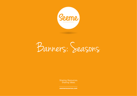 Seasons Classroom Banner