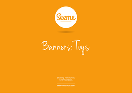 Toys Classroom Banner