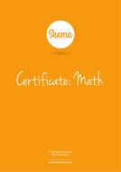 Super Maths Award Certificate