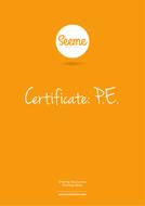 Perfect PE Award Certificate