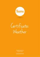 Weather Award Certificate