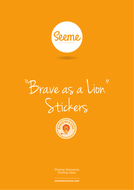 Brave as a Lion First Aid Stickers