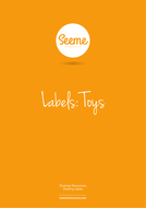 Toys Name Labels