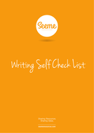 Writing Self Check List Assessment