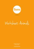 Animals List Making Worksheet