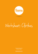 Clothes List Writing Worksheet