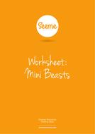 Mini Beasts List Writing Worksheet