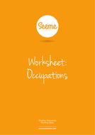 Occupations List Writing Worksheet