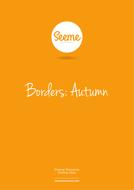 Autumn Border Writing Template